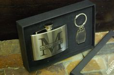 Personalized Engraved Flask Set Sports by KottageInspirations