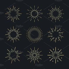 Set of firework explosion vectors by rawpixel on Background Design Vector, Retro Background, Creative Illustration, Free Illustrations, Firework Tattoo, Fireworks Design, New Year Fireworks, New Years Decorations, Art Images