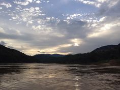 Mekong river as the sun goes down