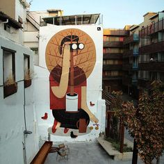 Huge Art Murals by Agostino Lacurci