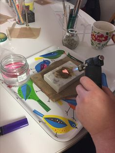 Learn how to torch fire PMC on any of our Precious Metal Clay workshops @ The Oxford Bead Shop