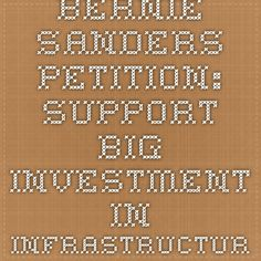 Sen Bernie Sander Is Introducing A  Trillion Infrastructure