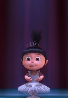 Little Agnes from Despicable Me. The most adorable character. Ever.