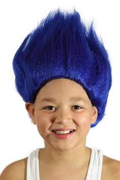 Amazon.com: My Costume Wigs Boy's Thing 1 and Thing 2 Wig (Blue) One Size fits all: Clothing