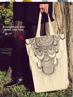 illustrated tote