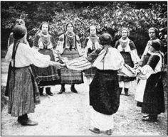 RUTHENIAN GIRLHOOD IN THE ZALESZCZYKI NEIGHBORHOOD, Ternopil, Galicia