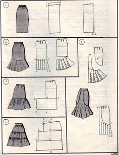 Gored skirts