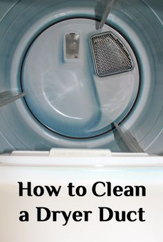 Avoid a house fire by cleaning your dryer ducts. Here are the steps.How to Clean a Dryer Duct or Dryer Vent . This would have been useful 2 months ago! Deep Cleaning Tips, House Cleaning Tips, Diy Cleaning Products, Cleaning Solutions, Dry Cleaning, Spring Cleaning, Cleaning Hacks, Cleaning Dryer Vent, Laundry Solutions