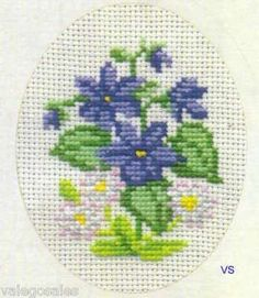 Permin of Copenhagen Counted #crossstitch  Violet #DIY #crafts #decor…