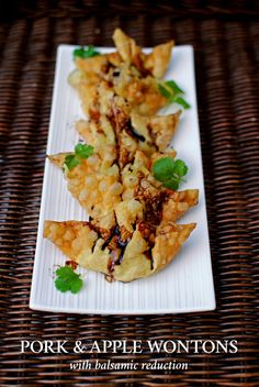 Guest Post : Genie from Bunny Eats Design featuring Pork and Apple Wontons - Ang Sarap Pork And Apple Recipe, Apple Recipes, Pork Recipes, Asian Recipes, Wonton Appetizers, Appetizer Recipes, Snack Recipes, Snacks, Recipes Using Egg