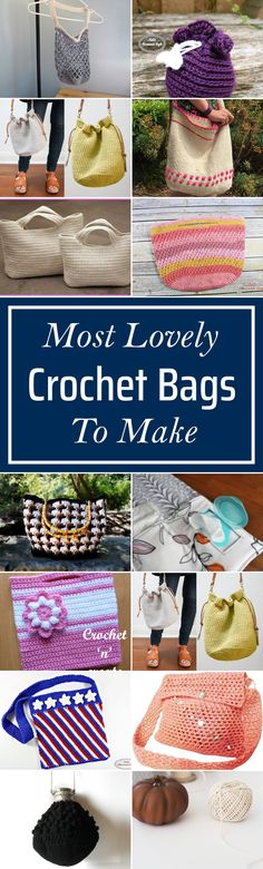 35 Most Lovely Crochet Bags To Make