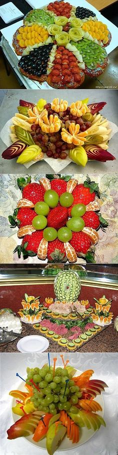 Ideas Fruit Platter Dip Food Displays For 2019 Fruit And Vegetable Carving, Veggie Tray, Veggie Display, Fruit Decorations, Food Decoration, Food Design, Snacks Für Party, Appetizers For Party, Party Desserts