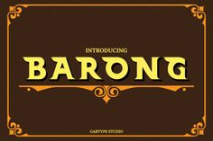 Barong Typeface is a Vintage style font and have two different styles and Extruded font and also have many ornament for giving the best quality for your project.Barong is good for making Label,logo,branding,and many Cool Fonts, New Fonts, Floral Font, Free Fonts For Designers, Luxury Font, Logo Branding, Logos, How To Make Labels, Barong