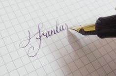 #calligraphy #lettering #fountain pen