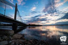 Jätkänkynttilä bridge in the city of Rovaniemi, in Finnish Lapland. Photo by Visit Rovaniemi / Rovaniemen matkailu Trips To Lapland, Lapland Finland, Midnight Sun, Summer Sunset, My Heritage, Travel Around, Wonderful Places, New Experience, Country