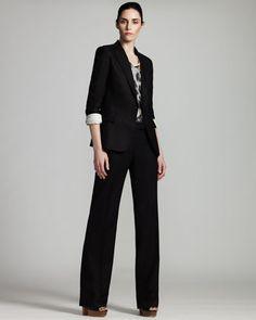 Peaked-Lapel Jacket & Straight-Leg Pants by Stella McCartney at Neiman Marcus.