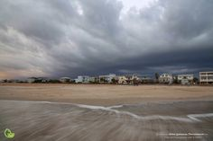Storm blowing in over Porpoise Point on Vilano Beach, north of St. Augustine by Robin Anderson Photography, Florida landscape.