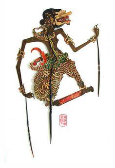 wayang kulit - Indonesian shadow puppet show.