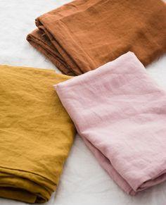 Ultra Luxurious Pure French Linen Sheet Set in Wildflower Pink Linen Sheets, Linen Bedding, Bed Sheets, Bedding Sets, Bed Linens, Bed Linen Sets, Linen Pillows, Cushions, Textiles