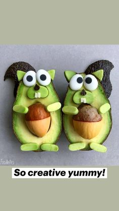 Cute Snacks, Cute Food, Good Food, Yummy Food, Food Art For Kids, Creative Food Art, Easy Food Art, Food Carving, Food Garnishes