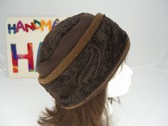 Adult Minky Fleece Brown PILLBOX Hat Women's Fleece Hat by HotHats, $26.95