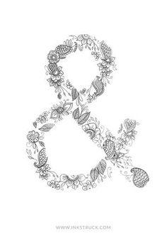 DIY Ampersand Doodle Coloring Pages | FaveCrafts.com