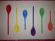 Colourful spoons on a canvas to hang in the kitchen :-)