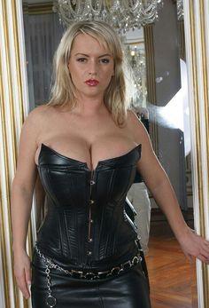 Bea Flora - leather corset - chandelier