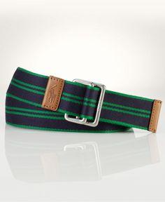 Polo Ralph Lauren Accessories, Striped Web Belt - Mens Belts, Wallets & Accessories - Macy's