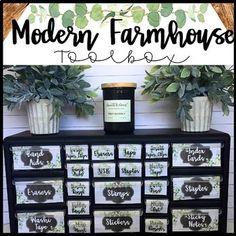 Modern Farmhouse Teacher Toolbox # Farmhouse Teacher # toolbox, - Decoration For Home