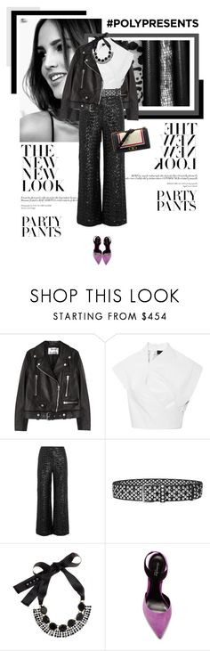 """""""#PolyPresents: Fancy Pants"""" by veronicamastalli ❤ liked on Polyvore featuring Acne Studios, Roland Mouret, Faith Connexion, Marni, Elyse Walker Los Angeles, Chanel, contestentry and polyPresents"""