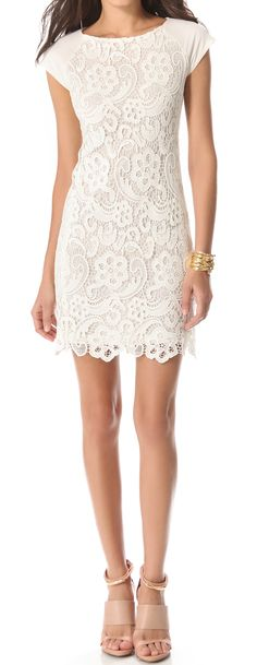 White lace dress for rehearsal