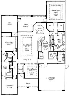 Award Winning Energy Saving home plan! The layout fit me. Love the extra Den. Can you say craft room!