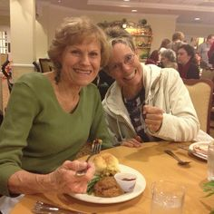 My Mom and sister (Krista) at the early thanksgiving shindig for my uncle Chuck.