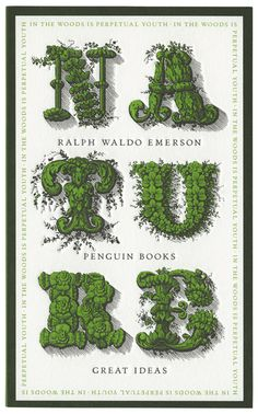 Nature by Ralph Waldo Emerson // Designed by David Pearson #bookcoverdesign #typography