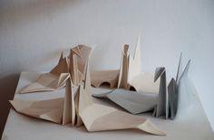 Porcelain Origami by Alina Constantin, via Behance
