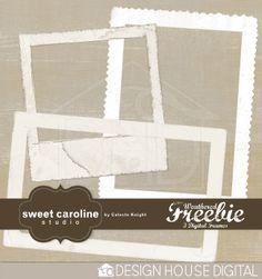 Weathered Freebie - Digital Frames