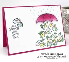 Stampin' Up! Demonstrator Pootles - Under My Umbrella Friendship Card Email Cards, Umbrella Cards, Minimalist Photography, Urban Photography, White Photography, Brollies, Under My Umbrella, Flower Lights, Cellphone Wallpaper
