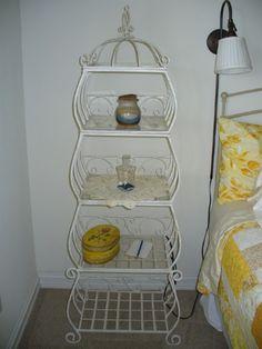 White Iron tiered shelf  (2)