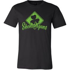 Shenanigans St. Patrick's Day Shamrock Design on a Variety of Apparel Styles from www.MudgeWare.com