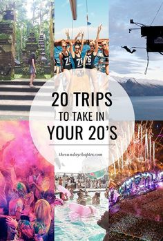 Trips to Take in Your Not sure where to start with your twenty-something travel adventures? We've got you covered!Not sure where to start with your twenty-something travel adventures? We've got you covered! Travel List, Travel Goals, Solo Travel, Travel Guides, Time Travel, Travel Plan, Budget Travel, Travel Movies, Disney Travel