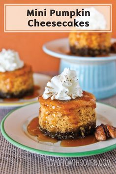 Mini Pumpkin Cheesecakes are a perfect addition to your fall dessert table. These bite-sized desserts have lots of delicious pumpkin taste and a fun flavor spin thanks to a gingersnap crust!