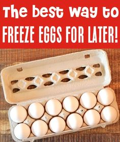 Freezer Meals and Organization Ideas - How to Freeze Eggs for Later Use! You'll never toss out eggs again once you know this simple little trick! Here's what you need to do... Frozen Cookie Dough, Frozen Cookies, Silicone Cupcake Liners, Baking For Beginners, Hard Boiled Egg Recipes, Freezing Eggs, Make Ahead Freezer Meals, Dairy Free Milk, Frozen Strawberries
