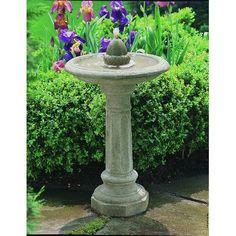 Campania International, Inc Cast Stone Acorn Fountain Finish: Copper Bronze