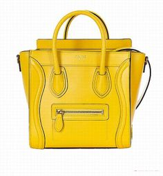 ce74ebb1c3 Celine Leather Luggage Fluorescence Shoulder Bags In Yellow