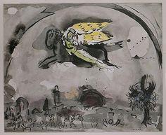 Acheter Tableau 'Cantique des Cantiques IV' de Marc Chagall - Achat d'une reproduction sur toile peinte à la main , Reproduction peinture, copie de tableau, reproduction d'oeuvres d'art sur toile
