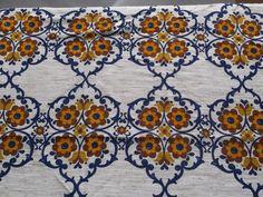 Vintage Stoffe - HINGUCKER! 70er Stoff Dekoplus Vintage Vorhang - ein Designerstück von Kreativfeuerwerk bei DaWanda