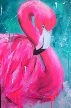 Flamingo Painting, Flamingo Art, Pink Flamingos, Desenho Pop Art, Flamingo Wallpaper, Art Watercolor, Bird Art, Painting Inspiration, Art Lessons