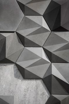 San: Geometric Concrete Wall Decoration by Bentu Design - Homeli Beton Design, Tile Design, Wall Patterns, Textures Patterns, Art Furniture, Beton Surface, 3d Cnc, Concrete Tiles, Concrete Wall Panels