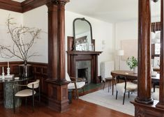 Lisa Staton Interior Design revitalize this classic Bellingham Four Square, built in while honoring the home's original architecture and detailing. Dark Wood Trim, Four Square Homes, Brighten Room, Loft, Historic Homes, White Walls, Decoration, Old Houses, House Tours